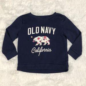 Navy Blue Old Navy California Sweatshirt 4T